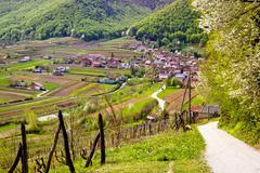 Idyllic mountain village of Prigorec - stock photo