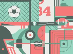 Sport abstract background - stock illustration