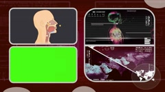 Vector Breathing - Analysis in software - examination - background red 03 - stock footage