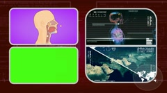 Vector Breathing - Analysis in software - examination - background red 01 - stock footage