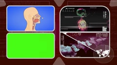 Vector Breathing - Analysis in software - examination - background red 02 Stock Footage