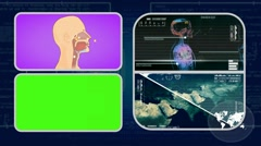 Vector Breathing - Analysis in software - examination - background blue 01 - stock footage