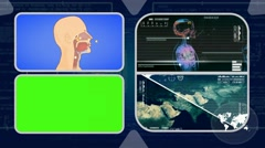 Vector Breathing - Analysis in software - examination - background blue 02 Stock Footage