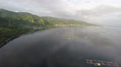 Fishing farm on Taal Lake Stock Footage