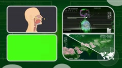 Vector Breathing - Analysis in software - examination - background green 03 - stock footage