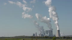 UHD TIME LAPSE: coal-burning power plant with steam from coolers Stock Footage