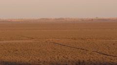Pan of Vast Australia Arid Outback Desert Landscape Stock Footage