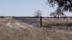 Rabbit-proof Fencing at Wyperfeld National Park in Australia Stock Footage