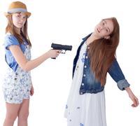 Teen girl's cruelty problem Stock Photos