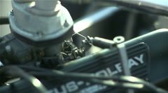 Formula car engine - stock footage
