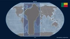 Benin - 3D tube zoom (Kavrayskiy VII projection). Bumps Stock Footage