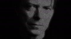 David Bowie Singer Animation Stock Footage
