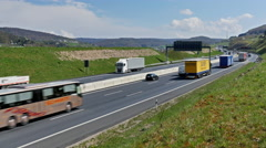 German Autobahn Traffic Perspective - stock footage
