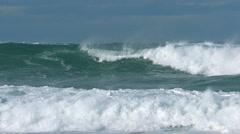 Ocean storm sea spray wind spray foam fizz wind waves Stock Footage