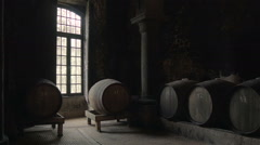 Traditional wine cellar. - stock footage