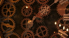 clock machine gears - stock footage