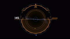 4k Radar GPS signal tech screen display science sci-fi data computer navigation. Stock Footage
