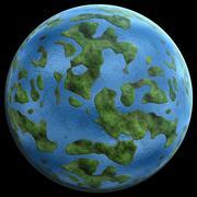 green Planetgreen planet similar to earth 3D illustration - stock illustration