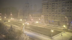 Day to night time lapse of first winter snow Stock Footage