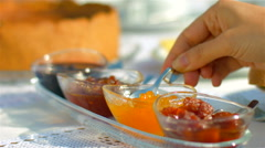 Traditional Portuguese food and wine - stock footage