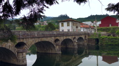 Historic center o Arcos de Valdevez. North of Portugal. Stock Footage