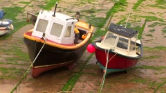 Quaint fishing boats Stock Footage