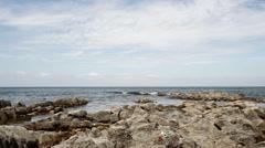 Coastline near Pillars cape rock Kunashir Stock Footage