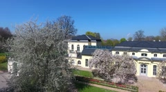 Teahouse of the castle at Altenburg summer spring green Stock Footage
