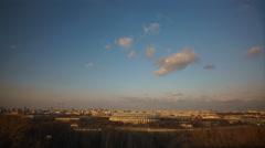 Sunset in the city overlooking the Luzhniki Stock Footage