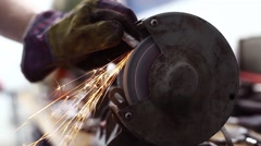 Grinder polish Stock Footage