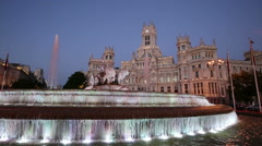 Cibeles Square, Madrid, Spain Stock Footage