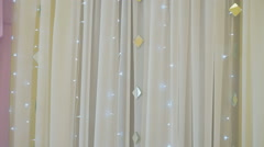 Gentle hall decoration for wedding reception Stock Footage
