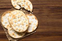 Saltine or Soda Crackers - stock photo