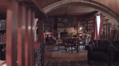 Old library. General view. Stock Footage