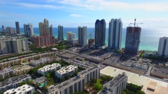Aeiral drone stock footage Sunny Isles Beach Stock Footage