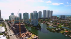Crane spotters Sunny Isles Beach Stock Footage