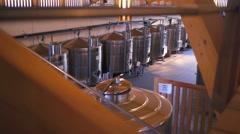 Liquid food cellar Stock Footage