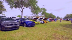 Muscle car Mustang show - stock footage