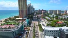 Sunny Isles Beach drone 4k Stock Footage