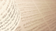 A Collection of High Quality Music Notes Texture, infinity LOOP. Stock Footage