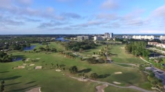High rising aerial video of a golf resort in North Palm Beach, Florida Stock Footage