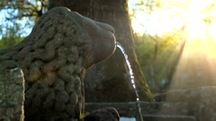 Antique fountain statue Stock Footage