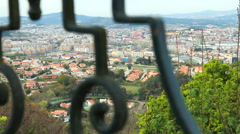 Aerial view of Braga - Portugal. Stock Footage