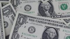 Dollars Money Banknotes Rotating Table Video Background - stock footage