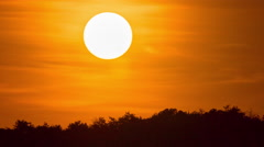 Dramatic mediterranean orange sunset, sundown in Italy, Europe Stock Footage