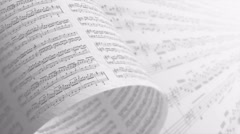 Music notes background in gray, LOOP. Stock Footage