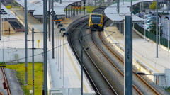 Train in Nine Station Portugal - stock footage
