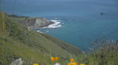 Pacific coast with rugged rocks and coastline Stock Footage