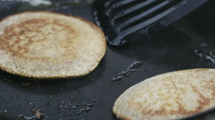 Cooking Pancakes Stock Footage