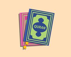 Quran islam muslim books with flat style vector Stock Illustration